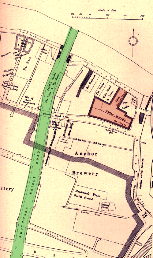 Anchor brewery map 1875