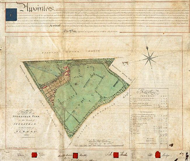 Streatham Park survey 1822
