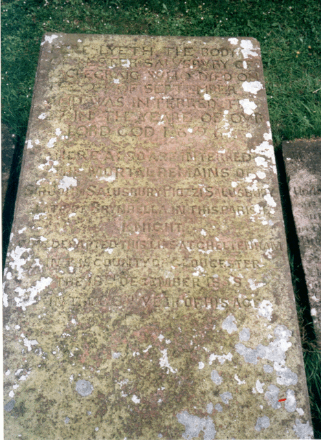 Grave of Sir John Salusbury Piozzi Salusbury and Hester Salisbury - top