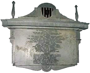 Henry Thrale's mourning tablet