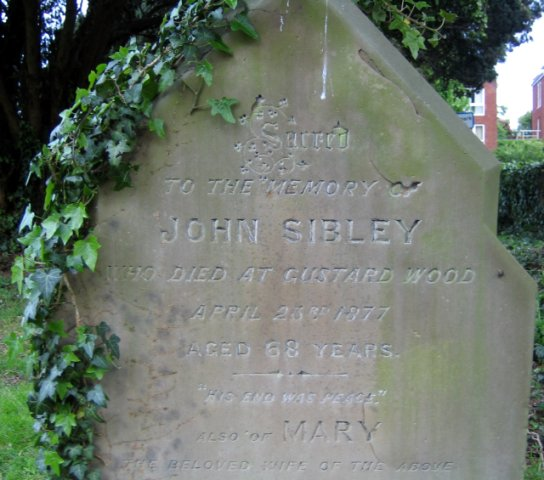 Headstone for Mary Thrale and John Sibley