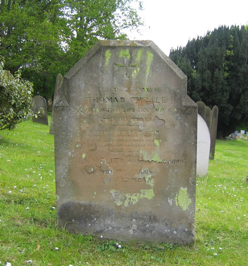 Thomas and Elizabeth Thrale grave 1886, St Marys' Wheathampstead