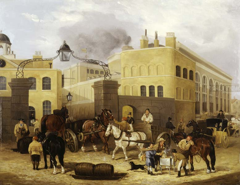 Park Street entrance circa 1835 by John Thomas Smith