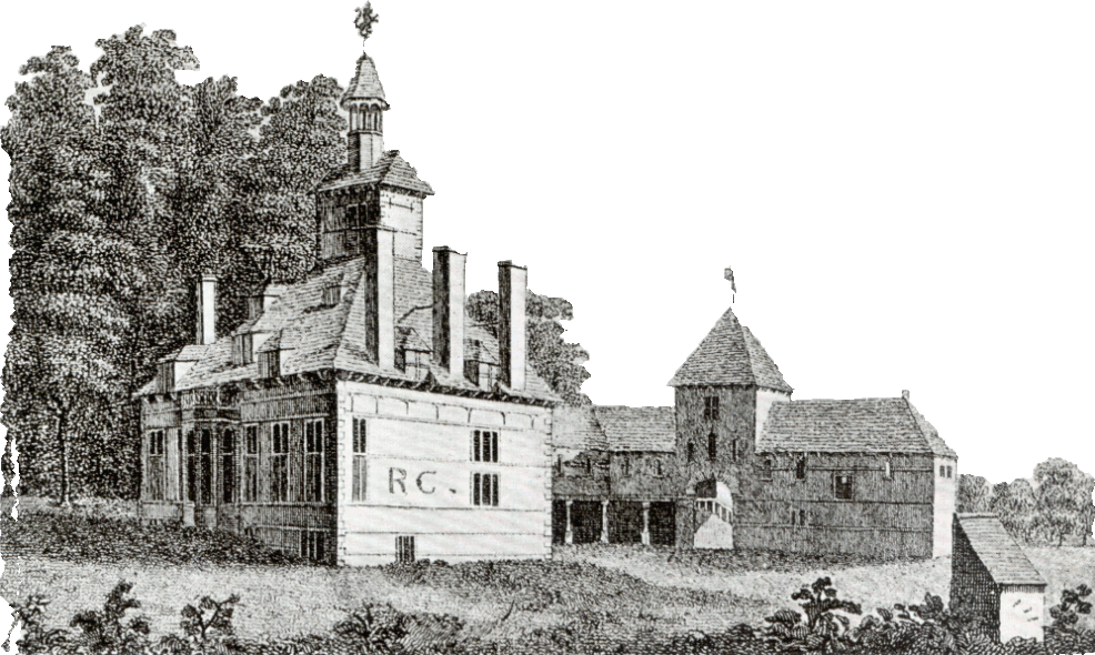 Bach y graig House in 1776 by S. Hooper