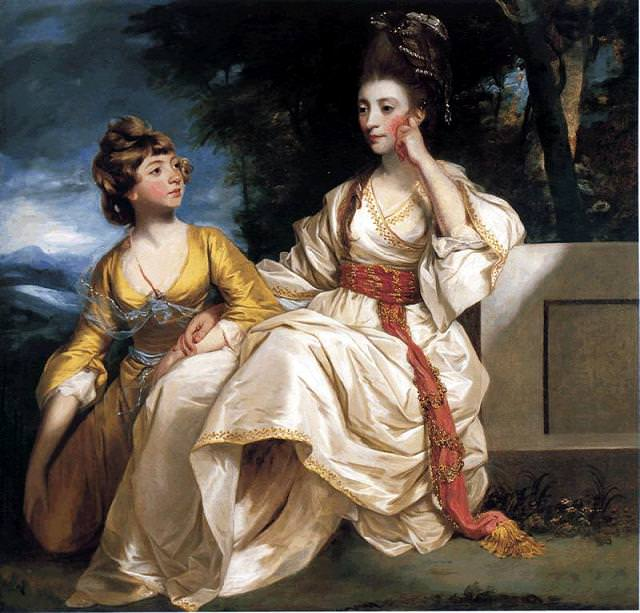 Hester and Queeney Thrale in 1777/8 by Sir Joshua Reynolds