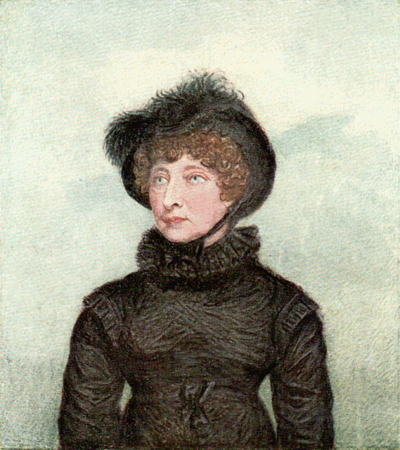 Hester Lynch Thrale portrait in 1818 by Roche