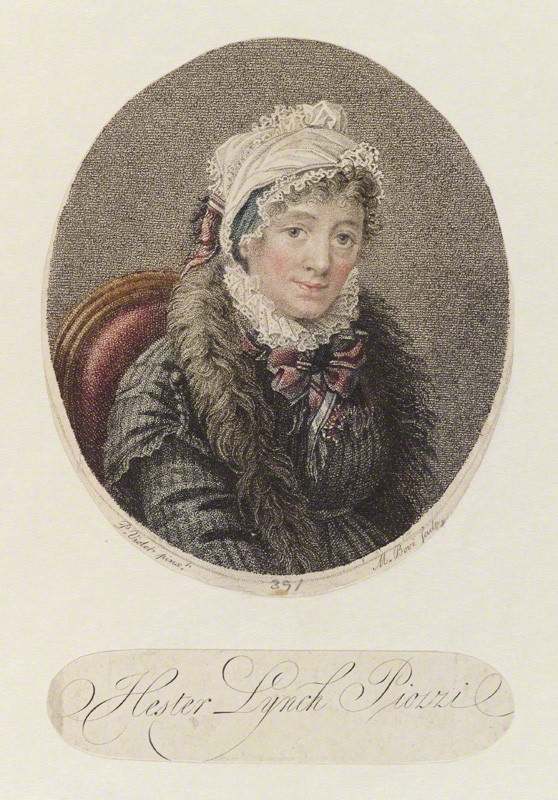 Hester Lynch Thrale by M. Bovi after P. Violet c.1800