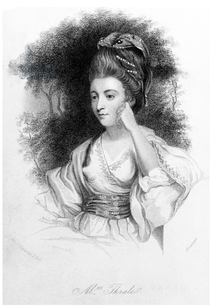 Hester Lynch Thrale engraved portrait from 1777/8 by Samuel Freeman