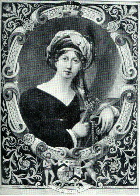 Hester Maria Thrale portrait in 1822 after Saunders