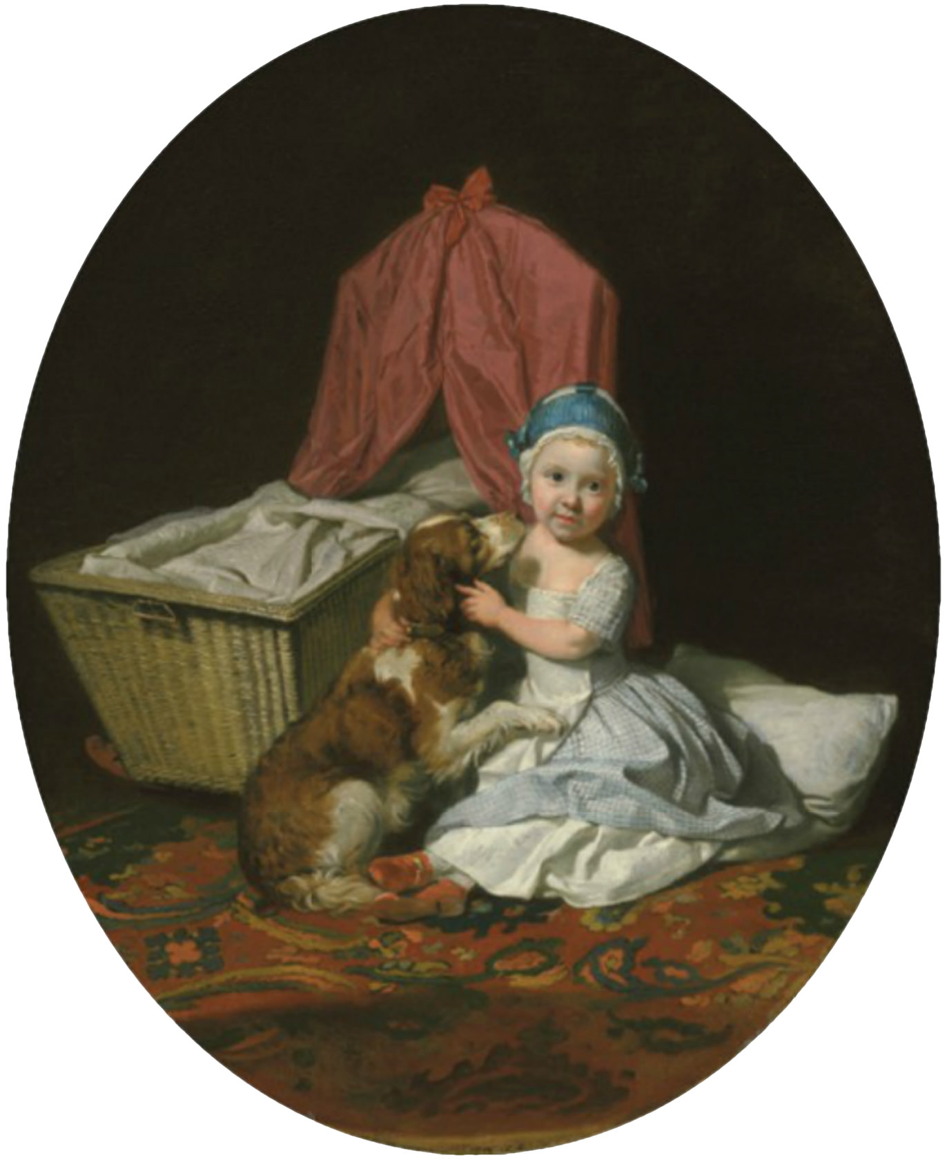Hester Maria Thrale and Belle by Zoffany 1766