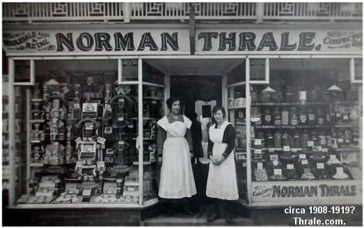 Norman Thrale shop 1908-1919?