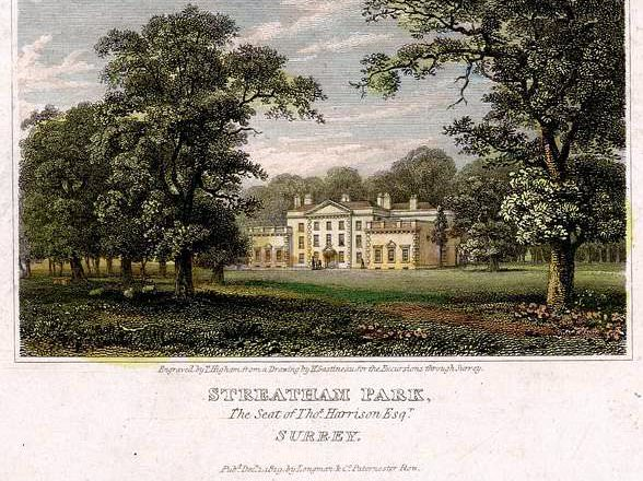 Streatham Park by J. Landseer after S. Prout