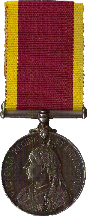 Thomas William Thrale China War Medal obverse view