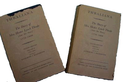 Thraliana dust jackets
