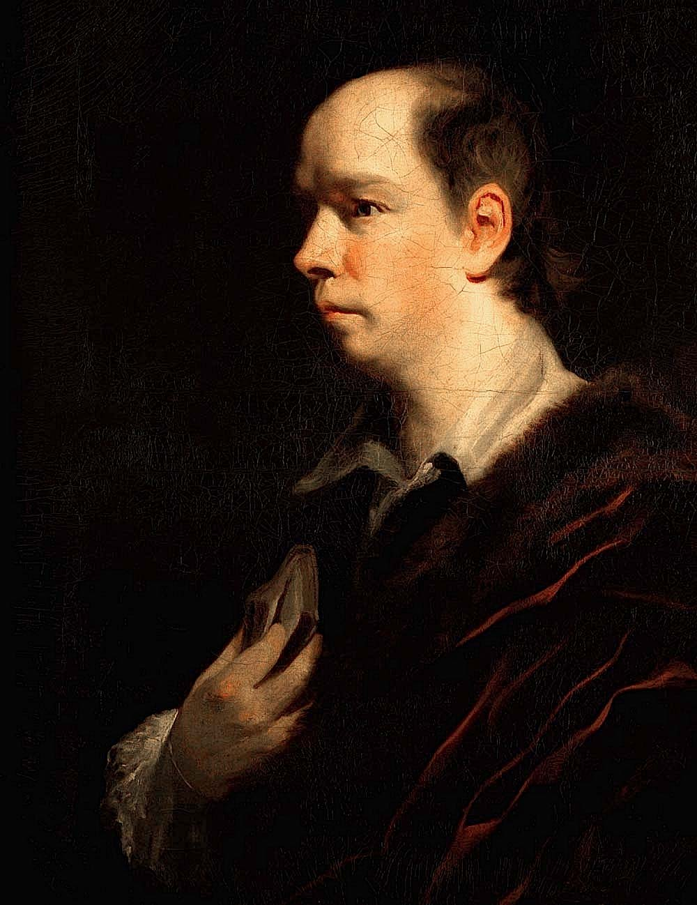 Oliver Goldsmith by Sir Joshua Reynolds in 1772