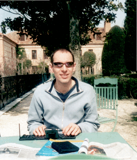 David Thrale in Chinchón Parador garden