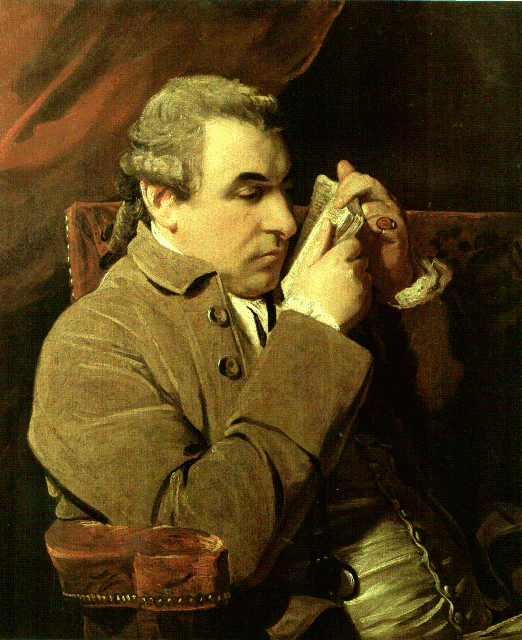 Giuseppe Marc' Antonio Baretti portrait by Sir Joshua Reynolds in 1773