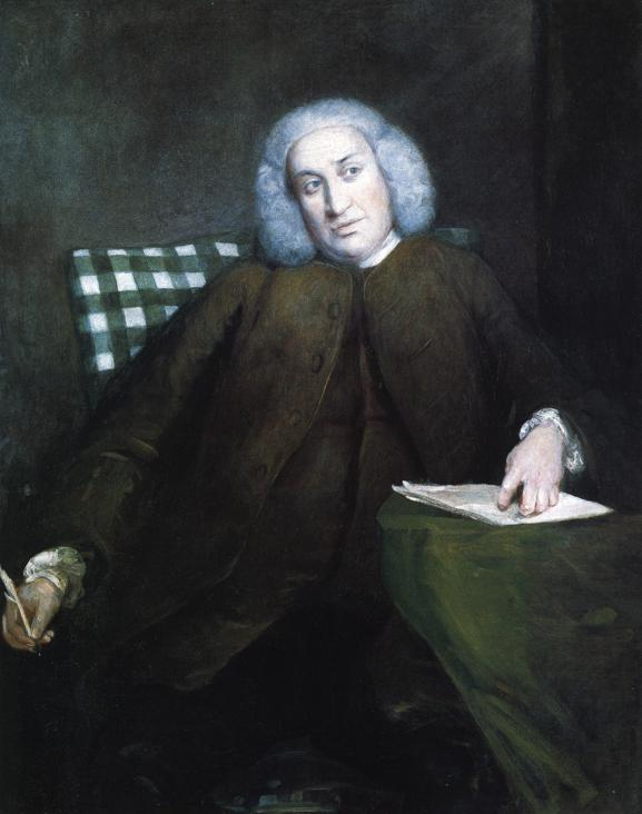 Samuel Johnson in 1756/7 by Sir Joshua Reynolds