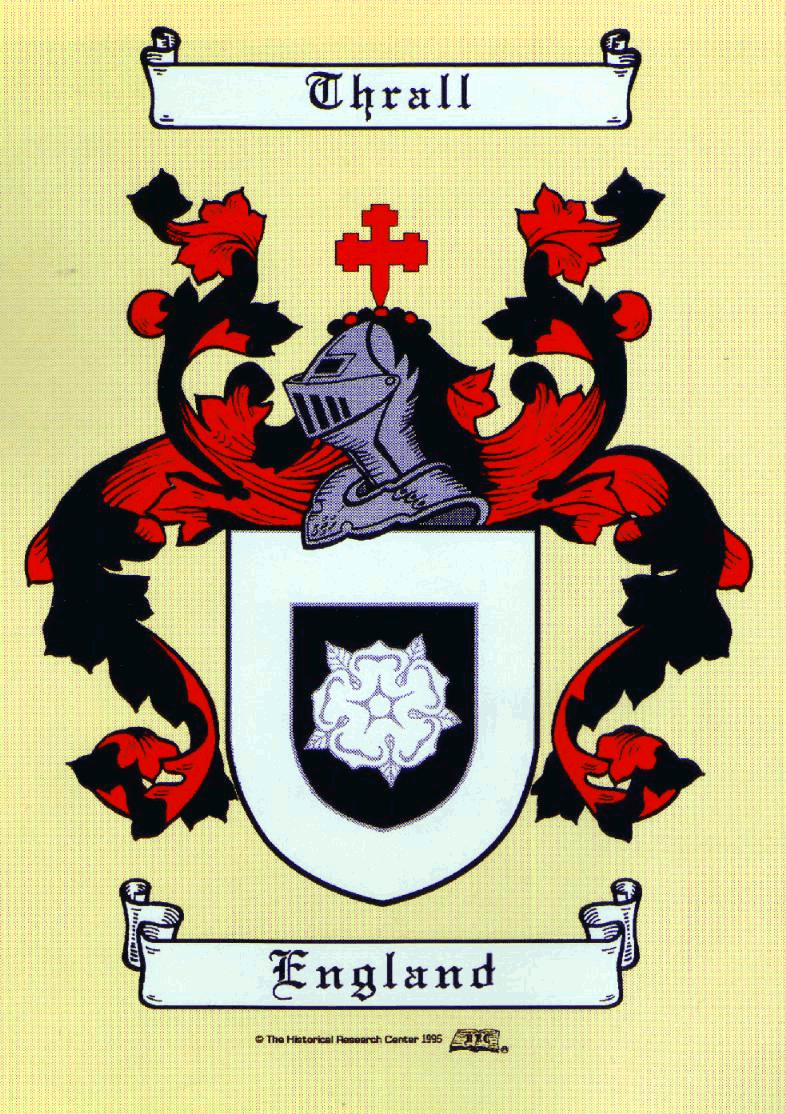 Thrall coat of arms