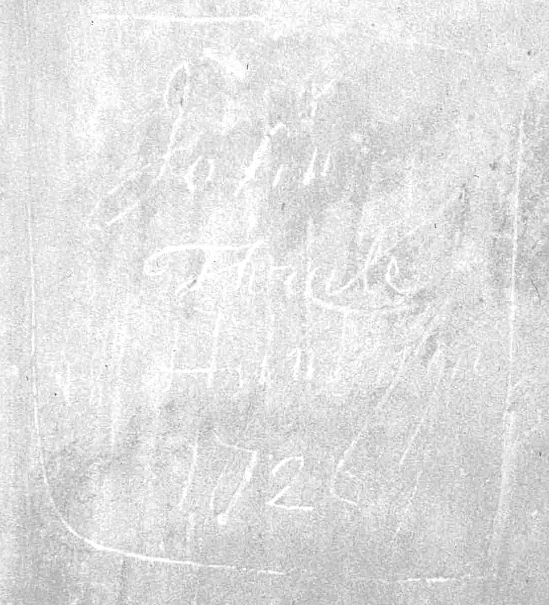 John Thrale 1726 graffiti, St Albans Cathedral