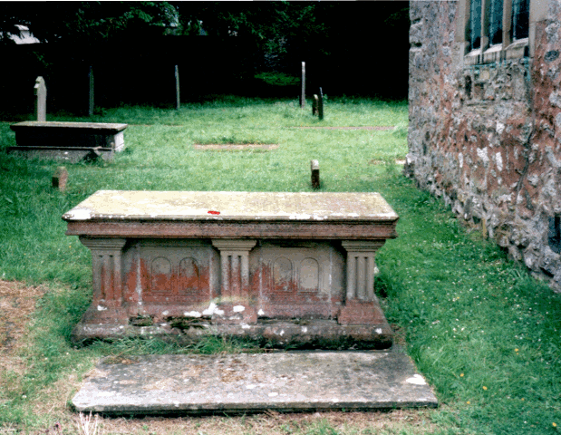 Grave of Sir John Salusbury Piozzi Salusbury and Hester Salisbury - side