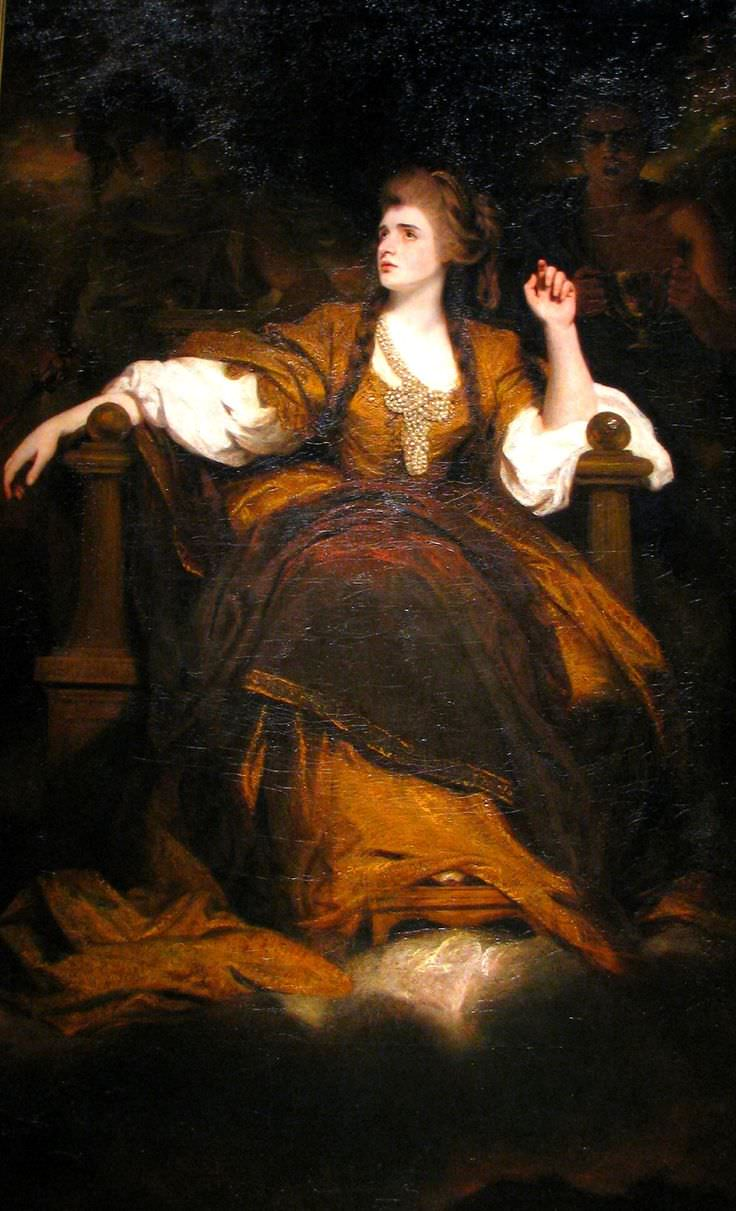 Sarah Siddons by Sir Joshua Reynolds in 1784